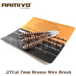 Armiyo .27Cal 7mm Hunting Rifle Gun Bronze Wire Barrel Cleaning Brush Airsoft Screw Thread Size 8-32