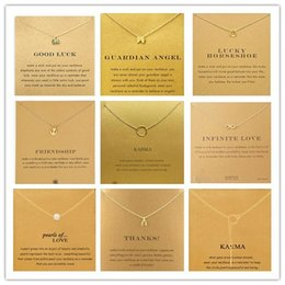 Wholesale With card Very cute Dogear Necklace with different pendant elephant wishbone karma angel wing and high quality