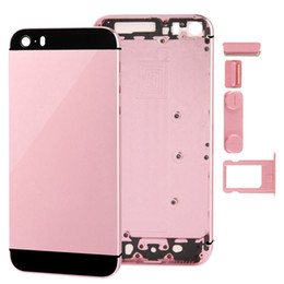 Metal Full Housing Back Cover Battery Cover with Side Buttons for iPhone 5 5s SE free DHL