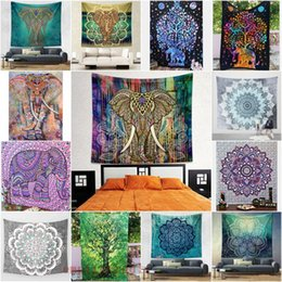 Wholesale 203 cm Wall Decorative Hanging Tapestries Indian Mandala Style Bedspread Ethnic Throw Art Floral Towel Beach Meditation Yoga Throw Mat