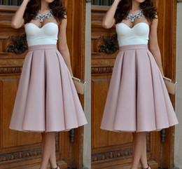 Super Hot Date-night Party Skirts For Women Fixed Waist Satin Knee Length Blush Pink Maxi Midi Skirts Fashion Formal Women Skirts
