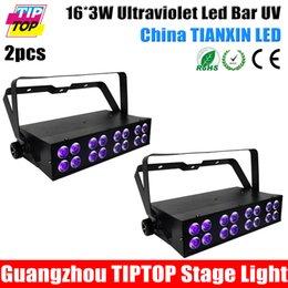 Wholesale Freeshipping pc American DJ UV LED BAR16 DMX LED UV lamp Black Light Bar w LED Effect dj Light led uv stage effect light