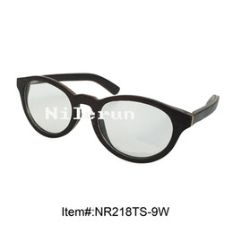 durable oval black wood optical spectacles