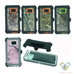 Holster Belt Clip Camouflag Military Tough Armor Shockproof Hybrid Rugged Defender Cases Cover for Iphone 7 6s plus Samsung Galaxy S8 S7 S6