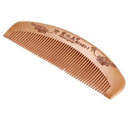 Inicio peinado del cabello en venta-Peine de madera popular anti-estática natural pelo natural masaje peinar peine cepillo cepillo uso doméstico herramienta de estilismo
