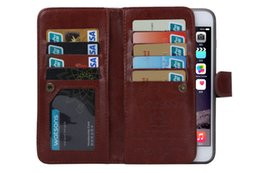 2in1 Magnetic Detachable 9 Card Wallet Leather Case for iphone X 6 plus iphone 7 8 plus Galaxy s7 edge s6 edge plus note 4 note 5 1pcs lot