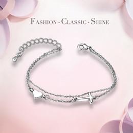 Exquisite fashion accessories bracelet platinum heart shape lovers personalized gifts bracelets women's leisure party chain bracelet