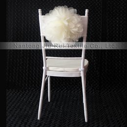 Wholesale 2017 Hot sale Charming Fantastic Organza Big Flower Lycra Chair Sash Band With For Wedding Party Hotel Decoration