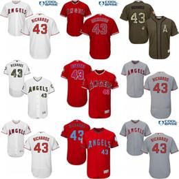 Wholesale 2017 Los Angeles Angels of Anaheim Jerseys Garrett Richards MLB Baseball Jersey Flexbase Cool Base Red Grey White stitched