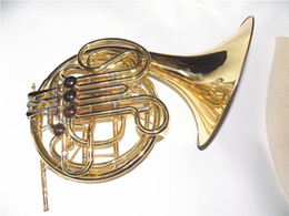 Wholesale 4 Valves Double Row French Horn in Bb with Foambody case and Mouthpiece Shipping time days Musical Instruments