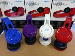 SMS Audio STREET 50 Cent Noise Cancel DJ Casque 3.5MM Wired Over Ear Casque Casque D'écoute Pour iPhone smartphone Samsung S6 à partir de rue sms via un casque d'oreille fournisseurs