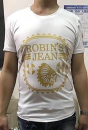 Fast Shipping! 2017 new high quality jeans man tshirt robin robin 100% cotton T-shirt tee hip-hop man short sleeve shirt m -XXXL Anti-shrink