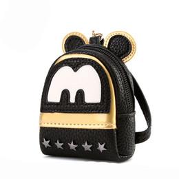 Promotion mickey bourse 2017 nouvelle arrivée! Lovely Mickey Coin Porte-monnaie Mini Porte-clés Wallet Card Holder Promotion Cadeaux 1PCS Livraison gratuite