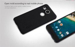 Nillkin para LG Nexus 5X nexus 5x (5,2 pulgadas) funda caso Fundas de teléfono helado Funda de plástico duro Volver Funda con protector de pantalla desde plástico nexo proveedores