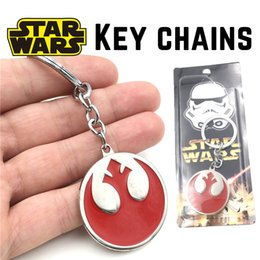 Wholesale Star Wars Rogue One Rebel Alliance Logo alloy Key chains Car Key ring Cartoon Key pendant Gift Package cm kids toys