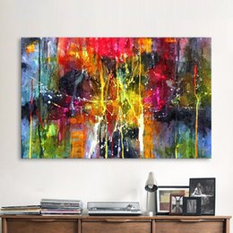 QKART Abstract Painting Colorful Canvas Wall Pictures for Living Room Office Bedroom Modern Canvas Oil Painting no framed
