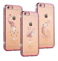 Pour iphone 7 plus Luxe Bling Diamant Electroplate cadre pare-chocs Transparent clair TPU souple pour iPhone 5 / 5S 6 6S Plus Samsung S6 S7 edg à partir de pare-chocs 5s transparent fabricateur