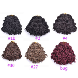 Promotion le tressage des cheveux 12 pouces 12 pouces Havana Twist Eau Dreadlocks Cheveux Synthétique Crochet Tresse Cheveux Jumbo Tressage kanekalon Fibre Faux Locs 24roots / lot