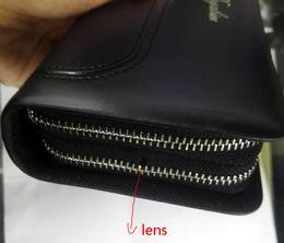 Cámaras ocultas bolsa en venta-Bolso del espía 720P HD ocultaron la videocámara secreta DVR de la cámara, mini bolso del espía DVR, bolso de la cámara del espía, carpeta del monedero con teledirigido, fácil