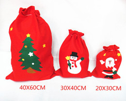 Wholesale New Arrival Christmas Gift Bag Better Quality Non-Woven Red Color Size Large 40*60cm Santa Claus Bags Drop Shipping 200pcs lot