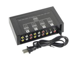 2016 amplificateur vidéo rca 4 ports 1 en 4 sortie 3 RCA amplificateur audio vidéo AV Splitter pour TV Box HDTV DVD bon marché amplificateur vidéo rca