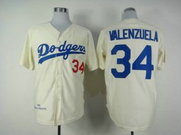 Wholesale Los Angeles Dodgers Fernando Valenzuela Jackie Robinson Broxton Beckett Mens Retro Jersey Baseball Jerseys