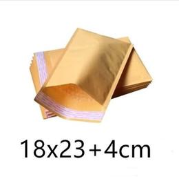 Acheter en ligne Kraft enveloppe jaune-Livraison gratuite Yellow Kraft Bubble Mailers Enveloppes rembourrées Sacs 18cm X 23cm + 4cm Paquet d'emballage de haute qualité