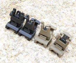 A.R.M.S. #71L ARMS Polymer Front & Rear Flip-up Sight Black Sand Free Shipping