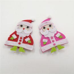 Rouge et rose rouge Noël bonhomme de neige poignets nouveauté mode feutre nouvelle haute qualité tissus dessus épingles à cheveux poignées tête de la coiffure à partir de tissu rose têtes fabricateur