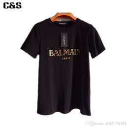 Wholesale 2016 Casual Cotton Balmain Men women T Shirts Male Tops Tees Robin T Shirt Homme Paris Balmai T Shirt Men s T Shirts Balmain Jeans Clothes