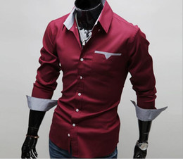 .Mens Shirts Long Sleeve Men's Casual T-shirt Slim Fit Stylish Plaid Border Mens Shirts&Tops 3 Color Plus Size Men's Clothing