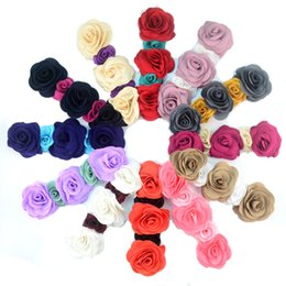 free shipping 50pcs lot Hair Bands Accessories Baby Kids Girls Toddler Newborn Five Roses Flowers Hairband Headbands combination FD214