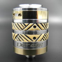 Cobre vaporizador mod en venta-Vaporizador Darang RDA atomizador 22 mm de diámetro 5 ml de capacidad de cobre de acero inoxidable con 510 hilos para E cigarrillos Mods DHL Free