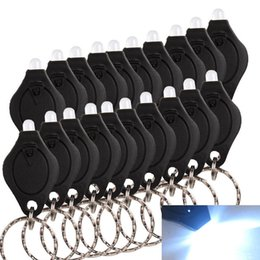 Hot Photon II2 Micro-Light LED Keychain Flashlight-White light LED keychain 100pcs color black free shipping O129