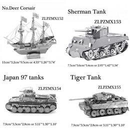 Wholesale D Metal Puzzle DIY Army Equipment Jigsaw Model Educational Fascination Toys NEW