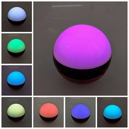 Wholesale Pokemons Ball Wireless Bluetooth Speaker Led Color Change Stereo Audio Speaker Calls Handsfree Support TF Card AUX Line in Mode
