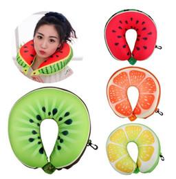 Livraison gratuite !!! Fruit Cartoon Memory Foam Car Air Travel Coussin en forme de U Coussin Coussin en forme de U Votre meilleur choix car foam for shape on sale à partir de mousse de voiture pour la forme fournisseurs