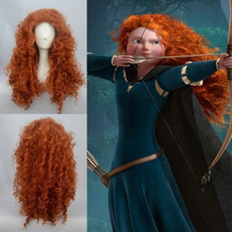 Wholesale 100 Brand New High Quality Fashion Picture full lace wigs gt Hot Sell Pixar Animated movie of Brave MERIDA cosplay wig