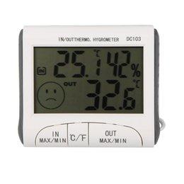 Wholesale DHDL LCD digitale Termometro Igrometro tester di umidita e temperatura w Wired con sensore esterno bianco