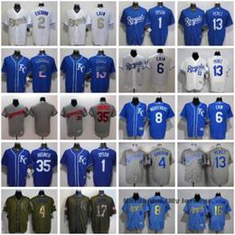 Kansas City Royals All Jerseys 35 Eric Hosmer 13 Salvador Perez 6 Lorenzo Cain 4 Alex Gordon 8 Mike Moustakas 5 George Brett 16 Bo Jackson
