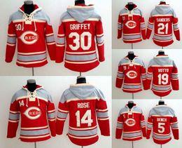 Wholesale Baseball jersey hoodie Cincinnati reds Deion Sanders Pete Rose Johnny Bench Joey Votto Ken Griffey Jr Jerseys