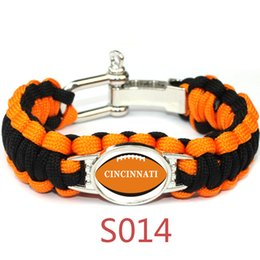 Wholesale team Outdoor Bracelets bengals football team Bracelets Lifesaving bracelet