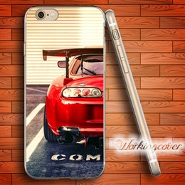 Coque Red Car Tuned Supra Soft Clear TPU Case for iPhone 6 6S 7 Plus 5S SE 5 5C 4S 4 Case Silicone Cover.