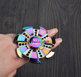 Wholesale EDC Rainbow Wind fire Rings Wheel Fantastic Hand Fidget Finger Spinner Gyro Toys Novelty Gag Decompression Adults Children Educational Gifts