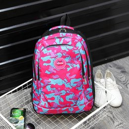 Wholesale 2016 autumn and winter fashion Korean Student Backpack outdoor camouflage waterproof cloth bag portable double back