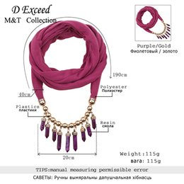 Wholesale Scarf Collar Pendant - The New Warm Winter Decoration Collar Ladies Fashion Personality Scarf Necklace Bullet Exquisite Pendant