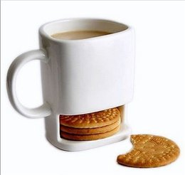 New Ceramic Mug Coffee Biscuits Milk Dessert Cup Tea Cups Bottom Storage for Cookie Biscuits Pockets Holder For Home Office