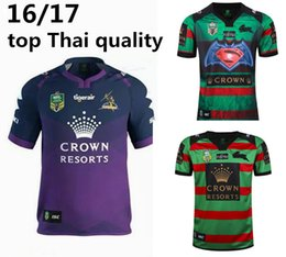 Wholesale 2016 NRL National Rugby League South Sydney Rabbitoh nd jersey High temperature heat transfer printing jersey Rugby Shirts size S XXXL