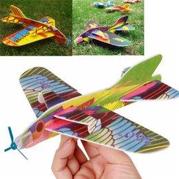 Planeadores de bricolaje en Línea-Venta al por mayor-nueva mini espuma niños de mano lanzando aviones de vuelo avión planeador juguetes DIY juguetes educativos para niños