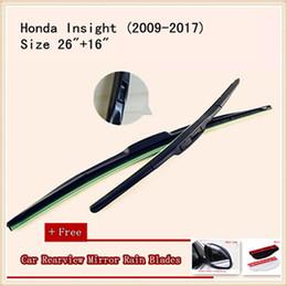 High Quality U-type Universal Car Windshield Wiper With Soft Natural Rubber For Honda Insight Honda CR-V Spirior Stream Jazz Odyssey Accord